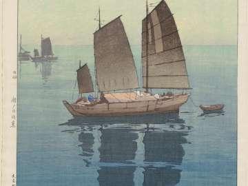 Sailboats: Forenoon (Hansen, gozen), from the series Inland Sea (Seto Naikai shû)