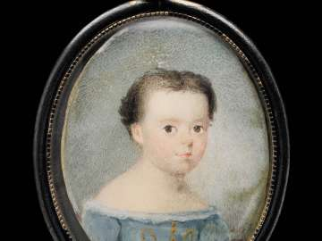 Child in a Blue Dress