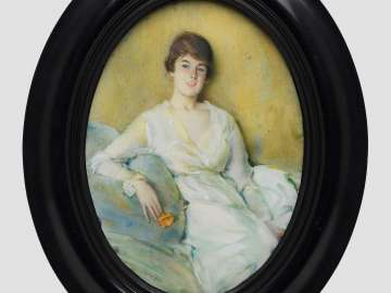 Margie in White (Margaret Curzon Hale)