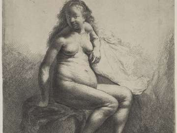 Nude Woman Seated on a Mound
