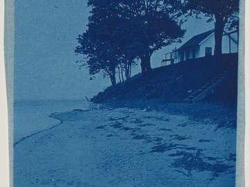 House, Trees and Beach (variant)