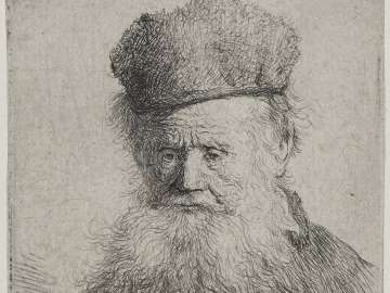 Bust of an Old Man with a Fur Cap and Flowing Beard