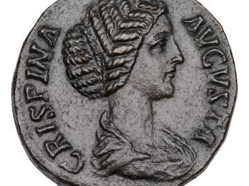 Sestertius with bust of Crispina, struck under Commodus