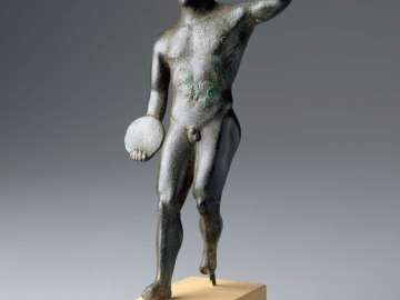 Statuette of a discus thrower (discobolos)