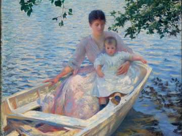 Mother and Child in a Boat