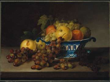 A Porcelain Bowl with Fruit
