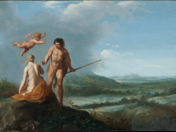 Nymph and Shepherd in a Landscape