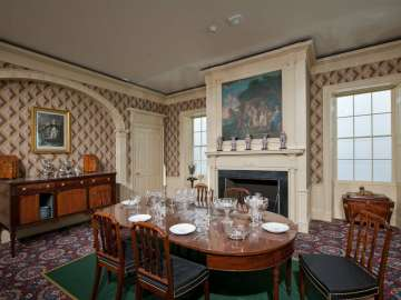 Interior Finish from the Oak Hill Dining Room