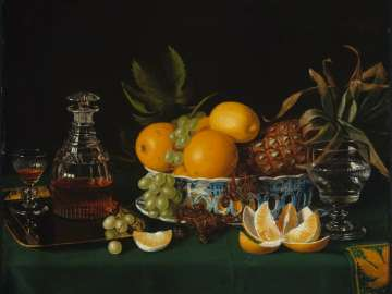 Still Life on a Green Table Cloth