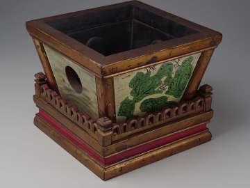Box drum (zhu) and base
