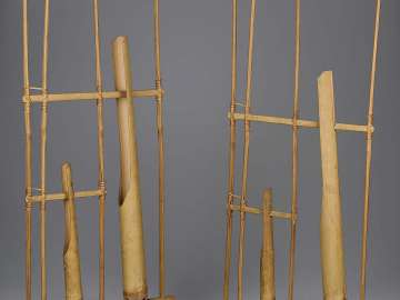 Pair of tuned sliding rattles (angklung)