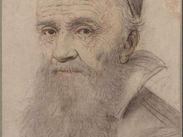 Portrait of a Man wearing a skull cap