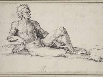 A Nude Man Reclining, Holding a Club