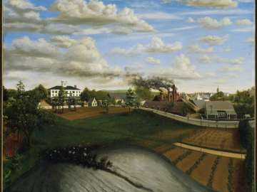 View of the Iron Works, Canton, Massachusetts