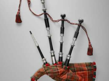 Bagpipe (highland pipes) and practice bagpipe (