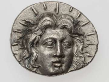 Tetradrachm of Rhodes with head of Helios, struck under Ameinias