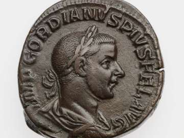 Sestertius with bust of Gordian III