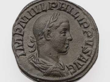 Sestertius with bust of Philip II