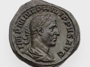 Sestertius with bust of Philip I