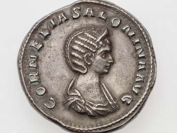 Medallion with bust of Salonina, struck under Valerian I and Gallienus