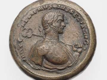Medallion with bust of Gallienus