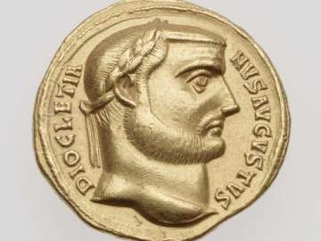 Aureus with head of Diocletian