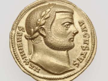 Aureus with head of Maximian I Herculius