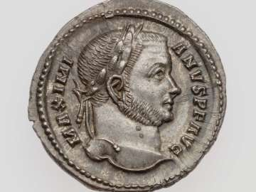 Argenteus with head of Maximian I Herculius