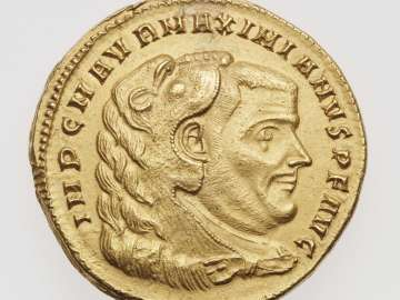 Medallion (four aurei) with bust of Maximian I Herculius