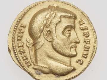 Aureus with head of Maxentius