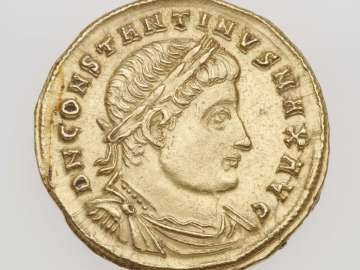 Medallion (1 1/2 solidi) with bust of Constantine I