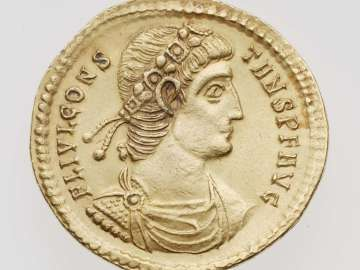 Medallion (2 solidi?) with bust of Constans I