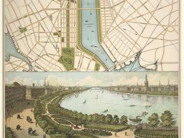 New Boston and Charles River Basin, 1874