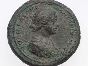 Medallion with bust of Lucilla, struck under Marcus Aurelius