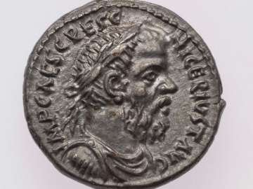 Denarius with bust of Pescennius Niger