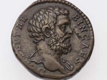 Sestertius with bust of Clodius Albinus