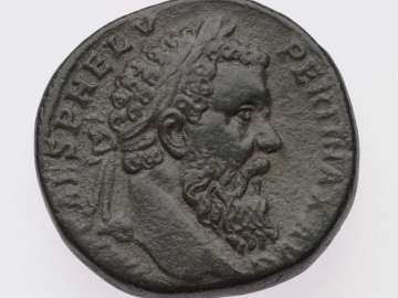 Sestertius with head of Pertinax