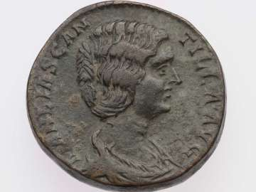 Dupondius with bust of Manlia Scantilla, struck under Didius Julianus