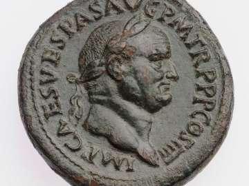 Sestertius with head of Vespasian