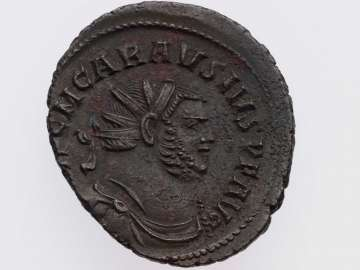 Antoninianus with bust of Carausius