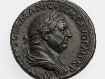 Sestertius with bust of Vitellius