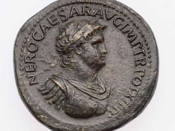 Sestertius with bust of Nero