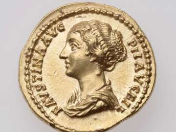 Aureus with bust of Faustina II, struck under Antoninus Pius