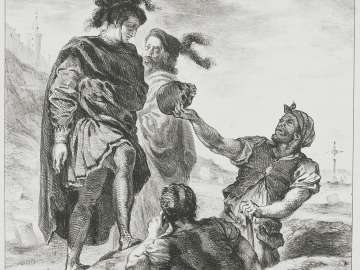 Hamlet and Horatio with the Grave Diggers (Act V. Sc. I from Hamlet)