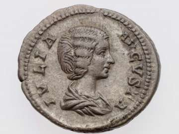 Denarius with bust of Julia Domna, struck under Septimius Severus