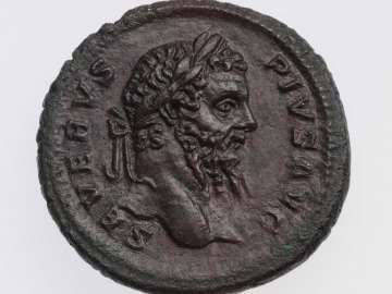 As with head of Septimius Severus