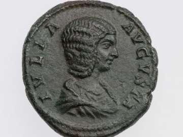As with bust of Julia Domna, struck under Septimius Severus