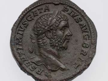 Sestertius with head of Geta