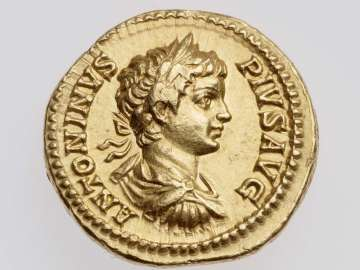 Aureus with bust of Caracalla