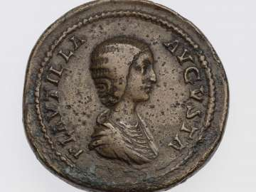 Sestertius with bust of Plautilla, struck under Caracalla